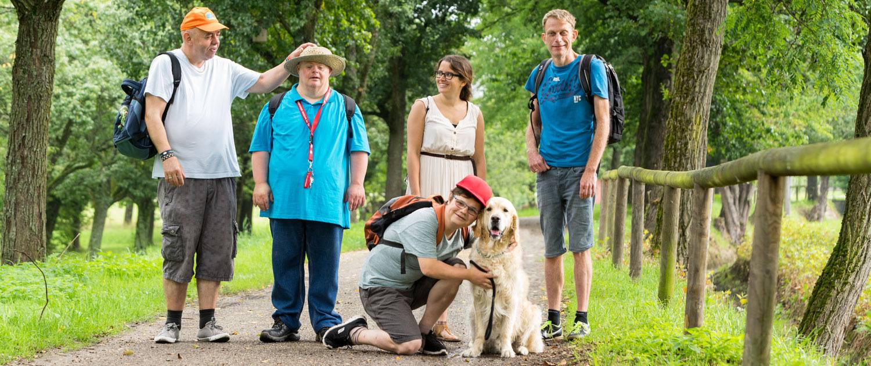 Gemeinsamer Ausflug der Lebenshilfe Mitglieder mit Hund