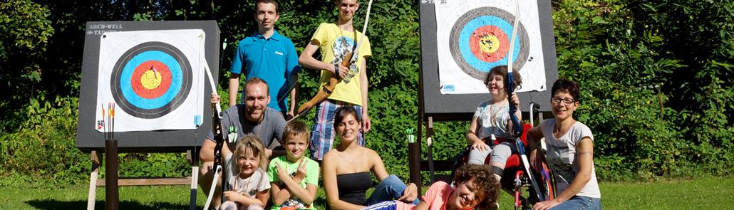 Lebenshilfe - Sportgruppen bei Bogenschießen